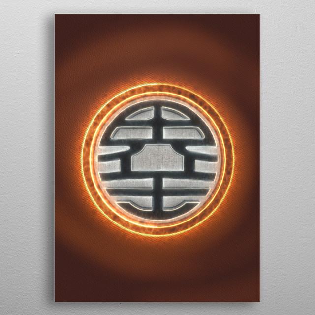 3D Kaio-Sama emblem  metal poster