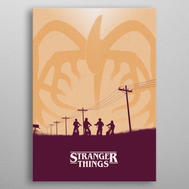 Stranger Things - A minimalist tribute metal poster
