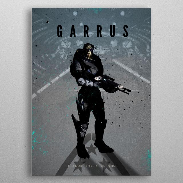 Garrus metal poster