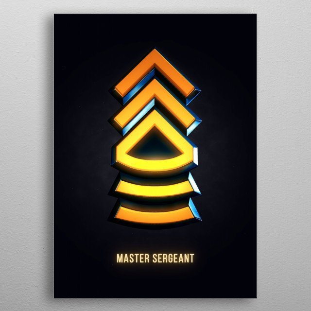 Master Sergeant - Military Insignia 3D metal poster