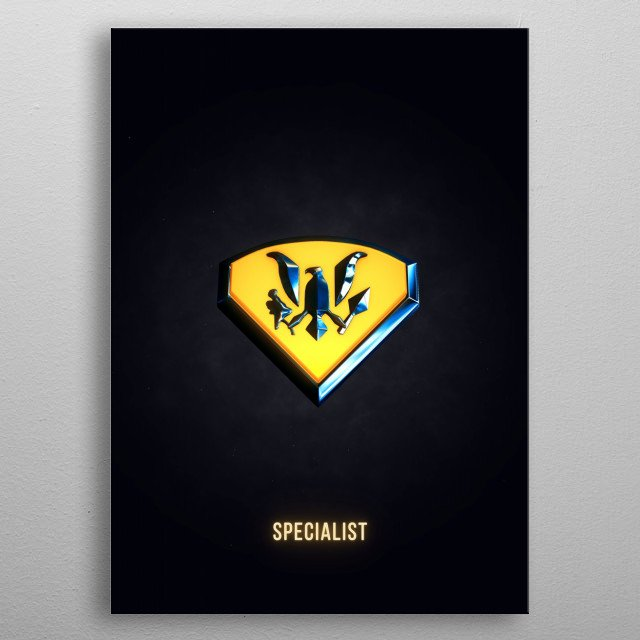 Specialist - Military Insignia 3D metal poster