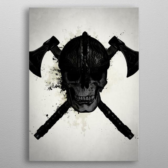 Viking Skull metal poster