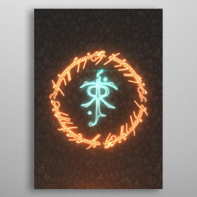 3D Tolkien Emblem  metal poster