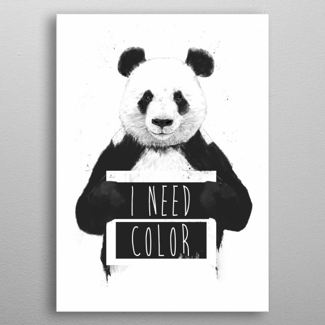 I need color metal poster