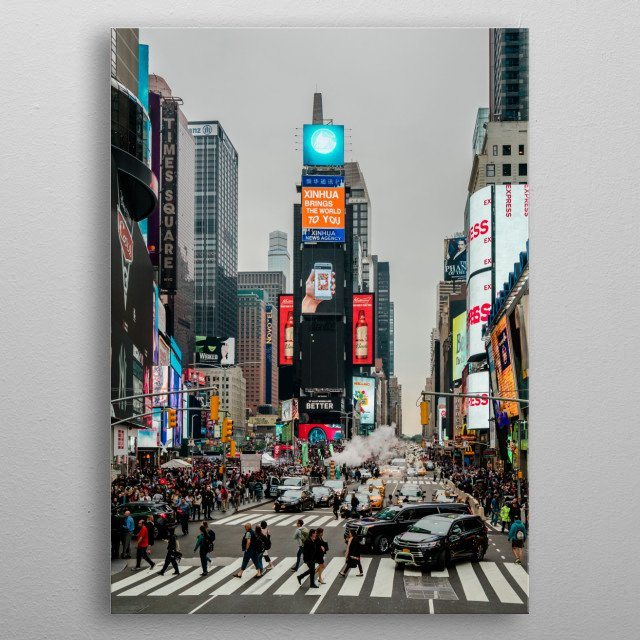 Time Square New York City metal poster