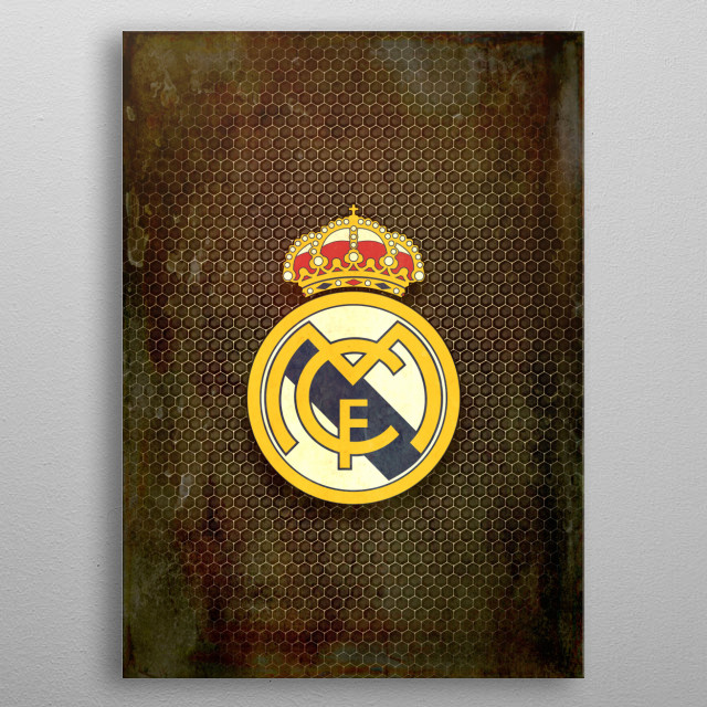 Real Madrid CF metal background metal poster