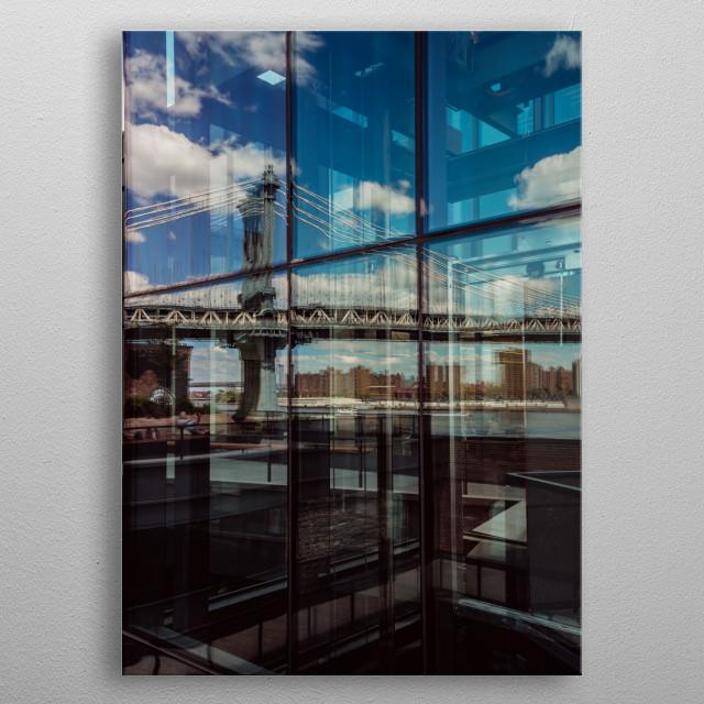 Manhattan Bridge NYC metal poster