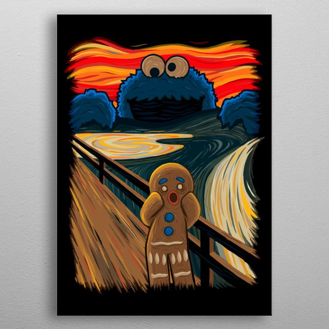 The Cookie Monster metal poster