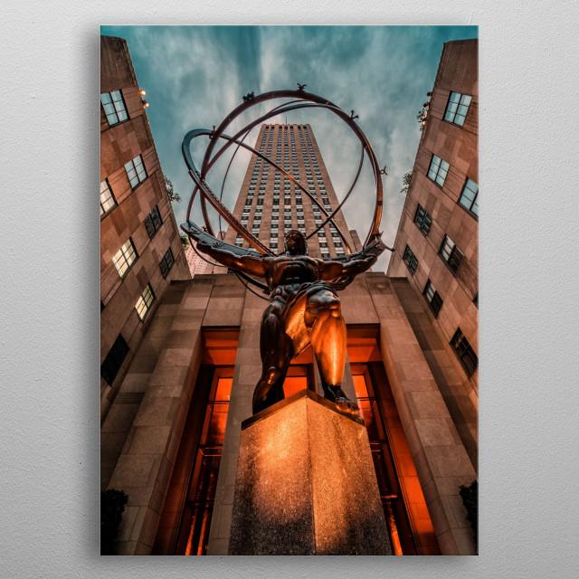 Rockefeller Center metal poster