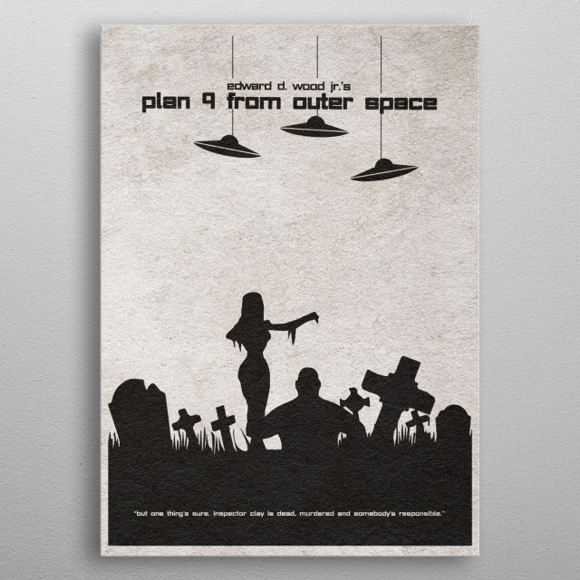 Plan 9 from Outer Space Minimalıst Movie Poster metal poster