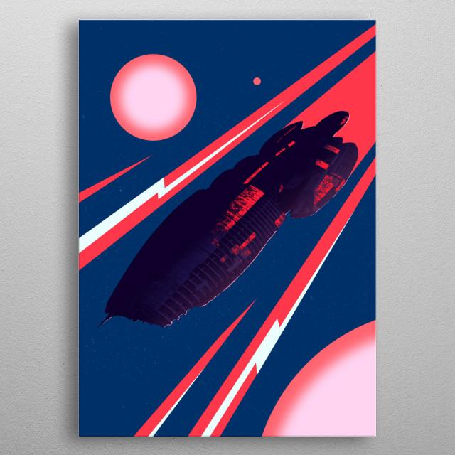 Galactica metal poster