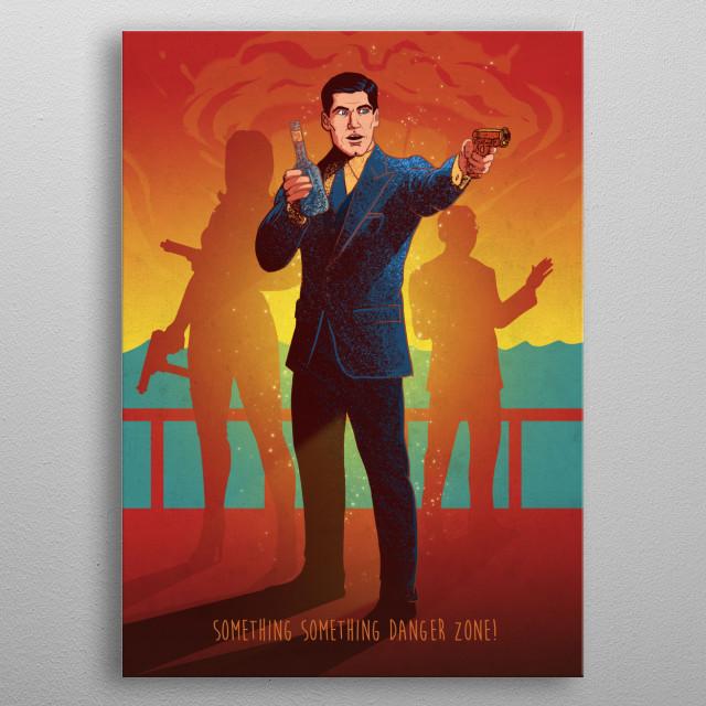 Archer metal poster