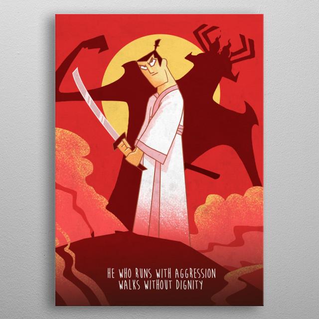 Samurai Jack metal poster