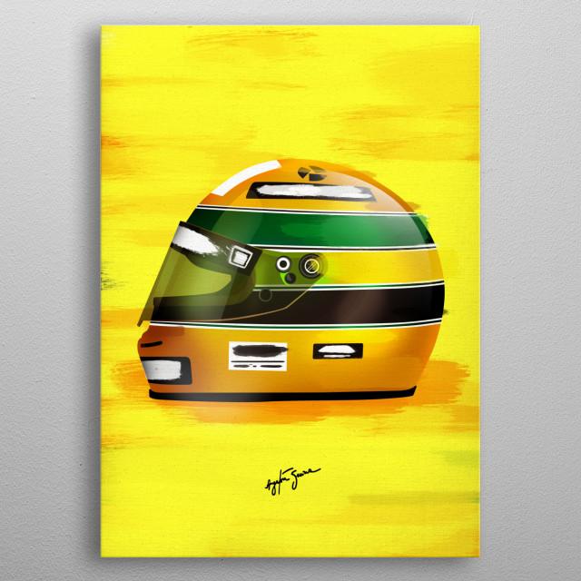 Senna metal poster
