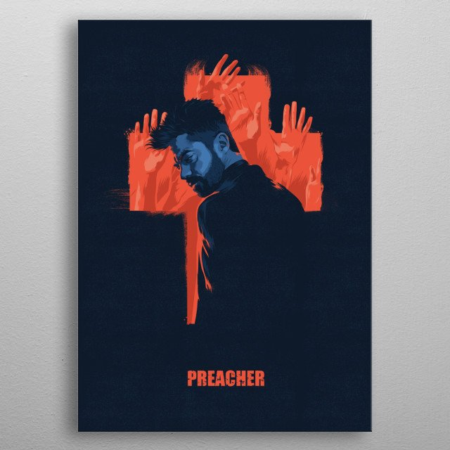 Preacher metal poster