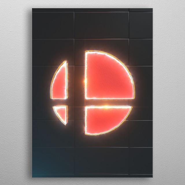 3D super smash Emblem  metal poster