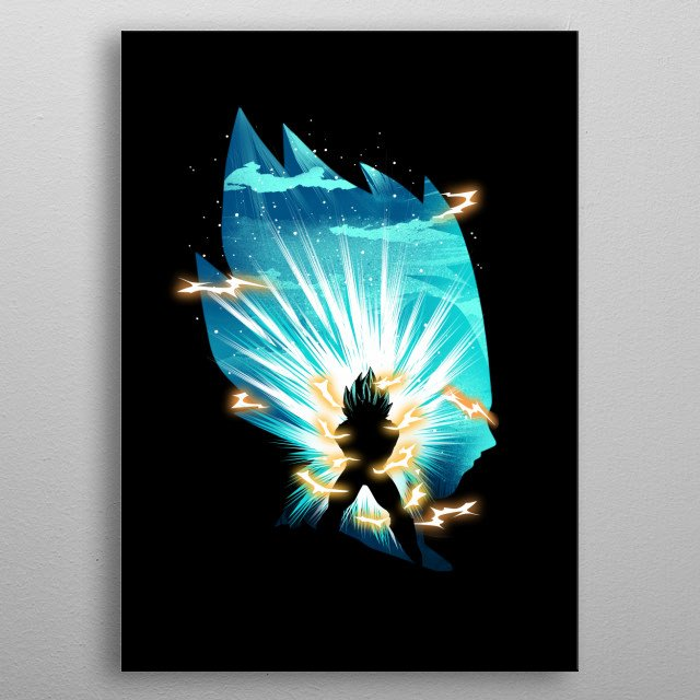 The Prince of Saiyans metal poster