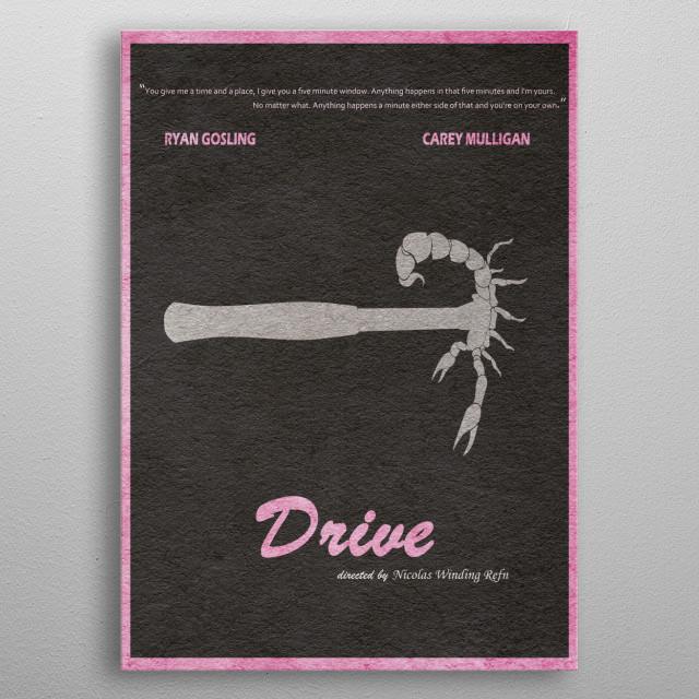 Drive Minimalıst and Alternative Movie Poster metal poster