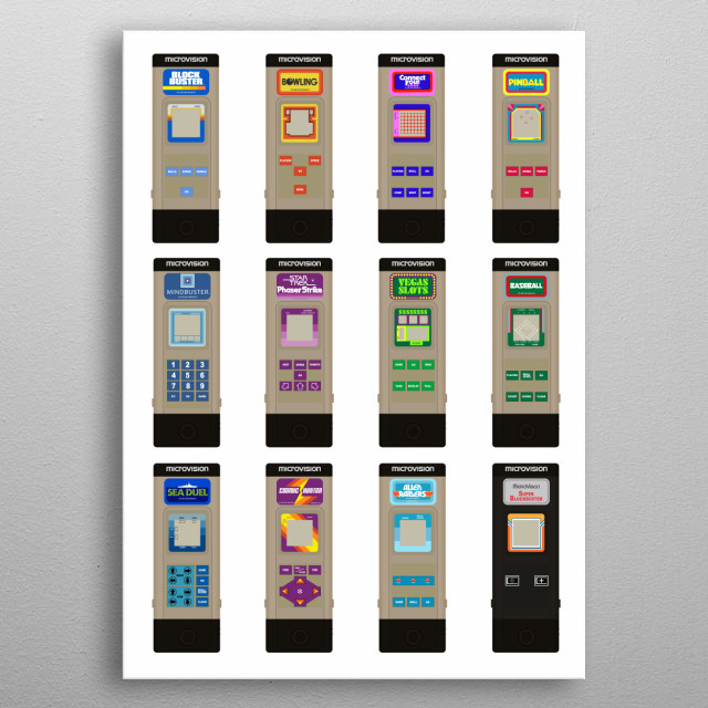 Microvision Handheld Consoles (1979-1981) metal poster
