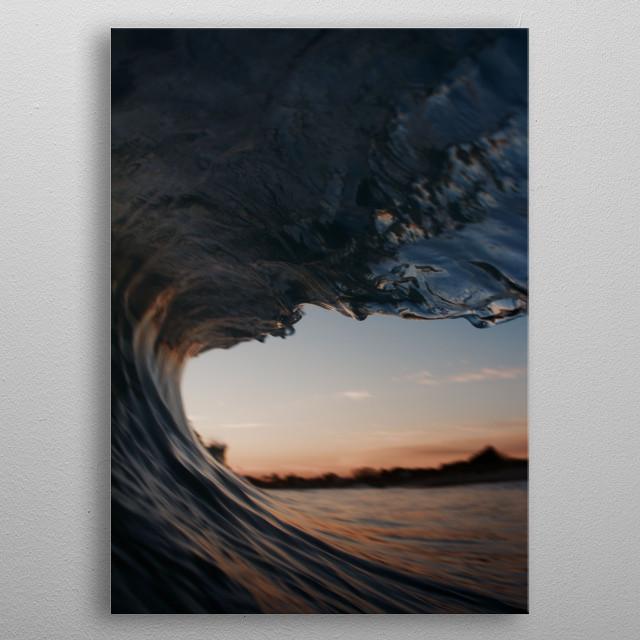 Wave metal poster