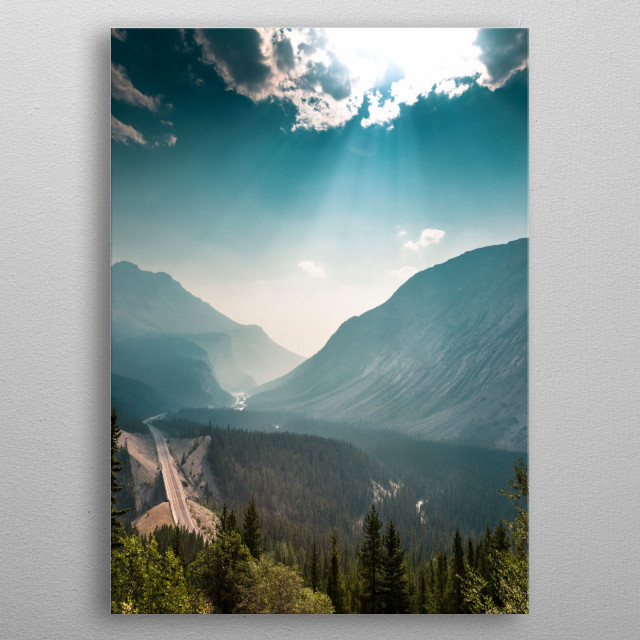 Rocky Mountain Road metal poster