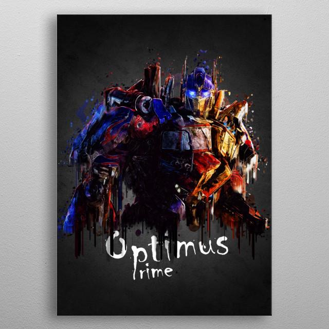 Optimus  metal poster