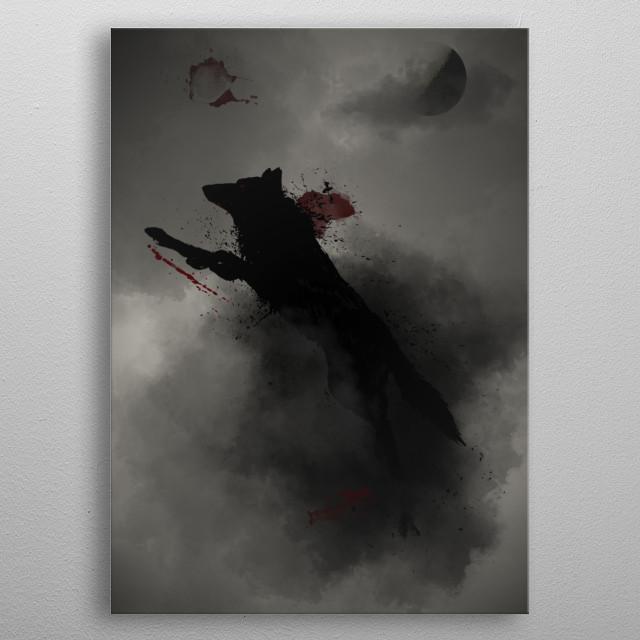 Night hunting metal poster