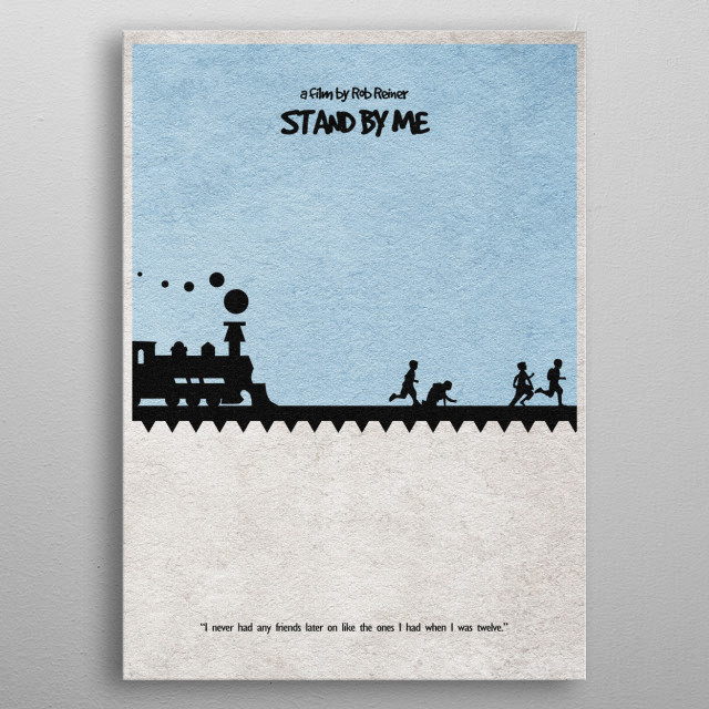 Stand By Me Minimalist and Alternate Movie Poster metal poster