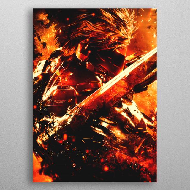 Metal Gear Rising JACK Raiden metal poster