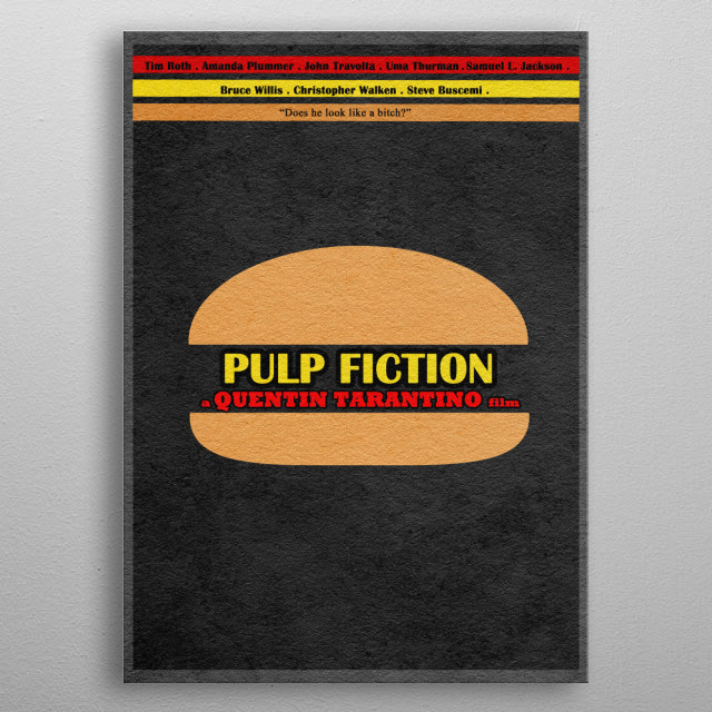 Pulp Fiction Minimalist and Alternate Movie Poster metal poster