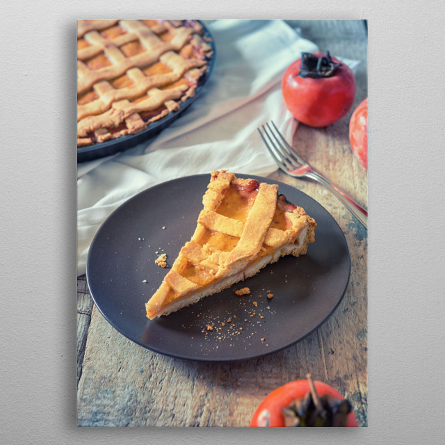 Persimmons pie metal poster
