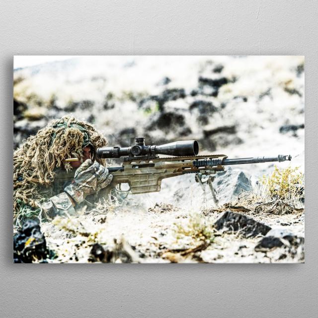 sniper  metal poster