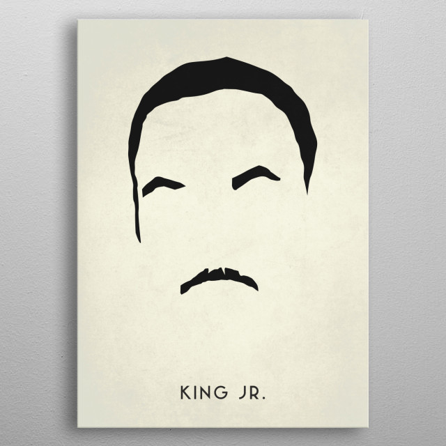 Legendary Mustaches - Martin Luther King Jr. metal poster
