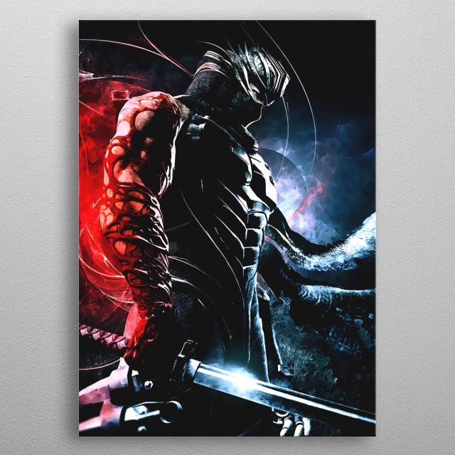 Ninja Gaiden Ryu Hayabusa metal poster