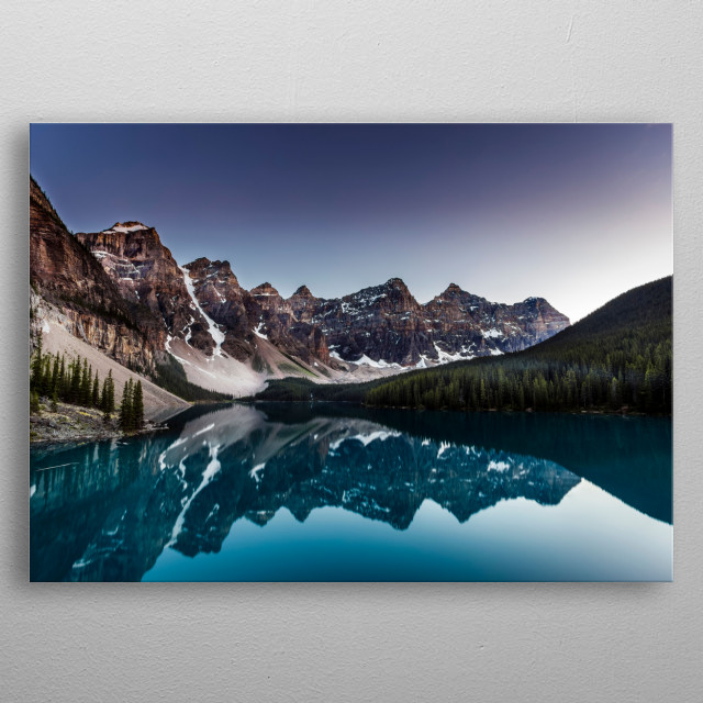 Moraine Lake metal poster