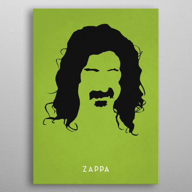 Legendary Mustaches - Frank Zappa metal poster