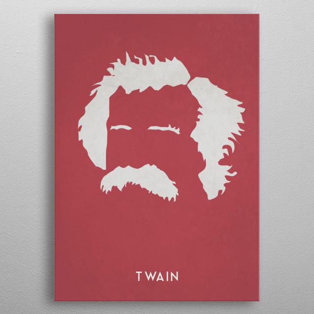 Legendary Mustaches - Mark Twain metal poster
