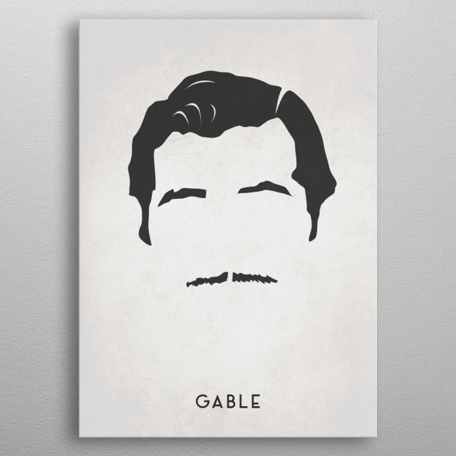 Legendary Mustaches - Clark Gable metal poster