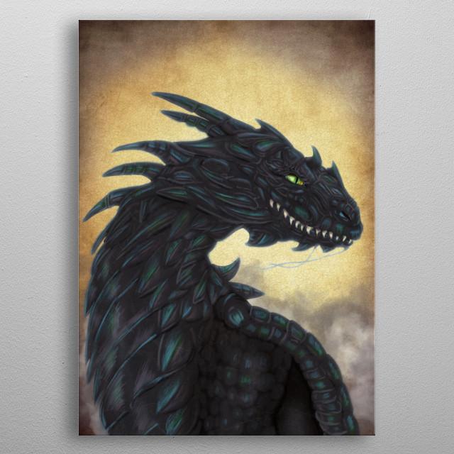 Black Dragon metal poster
