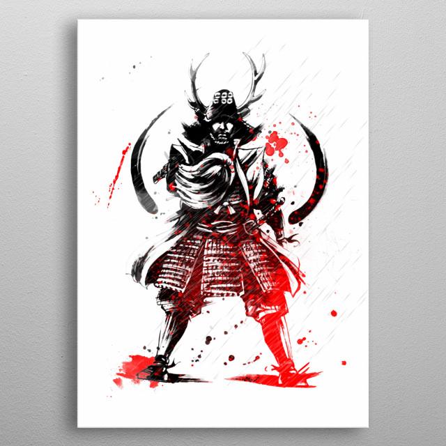 Samurai v1 metal poster