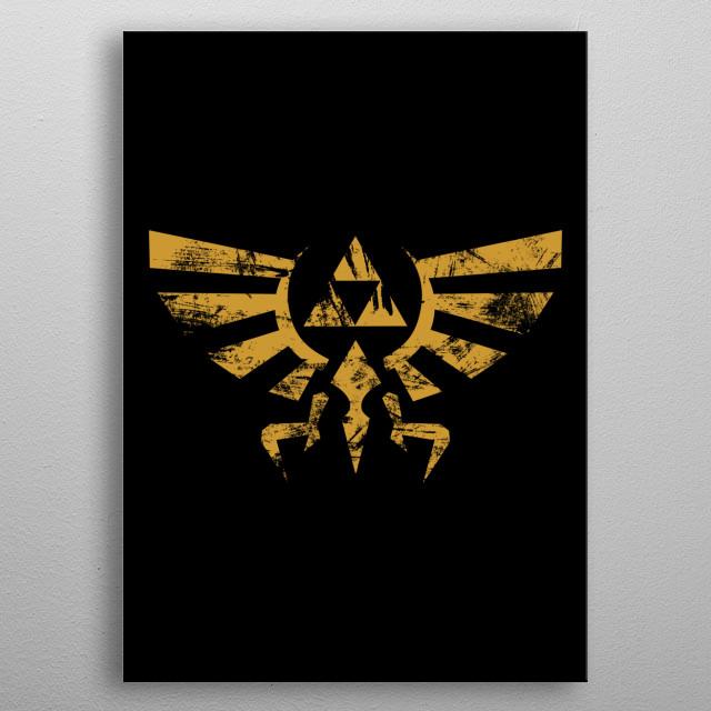 Triforce Grunge metal poster