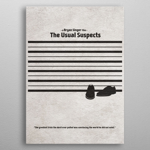Usual Suspects Minimalist & Alternate Movie Poster metal poster