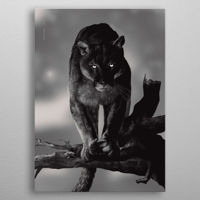Puma metal poster