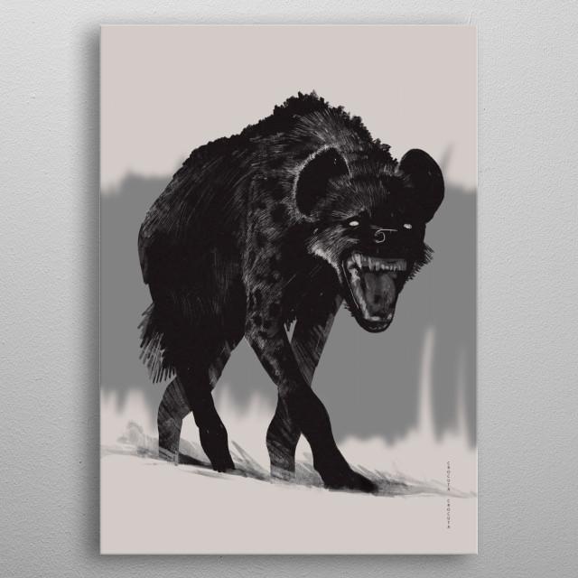 Hyena metal poster