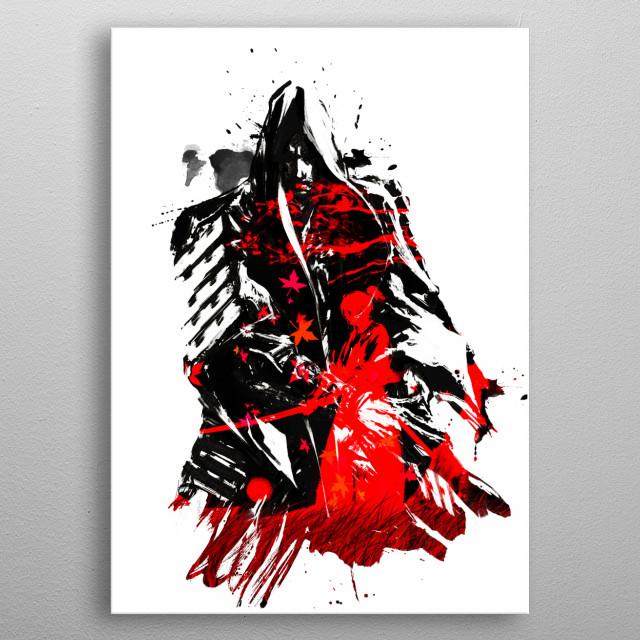 Samurai v5 metal poster