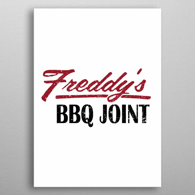 Freddys BBQ Joint metal poster