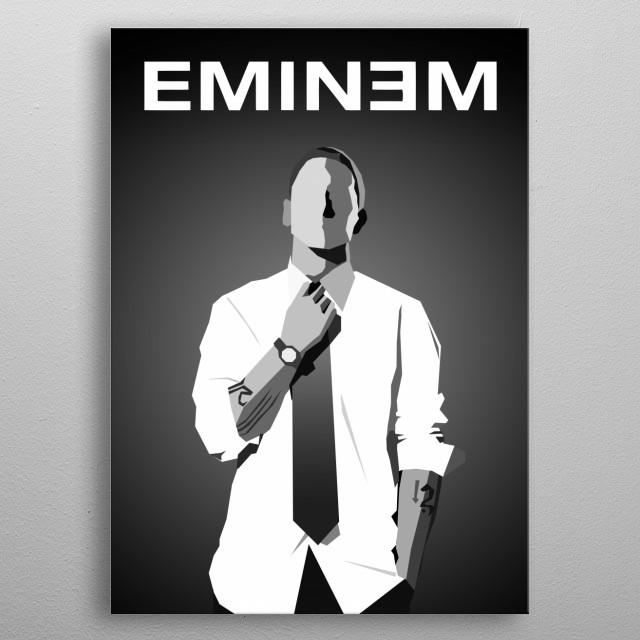 Slim metal poster