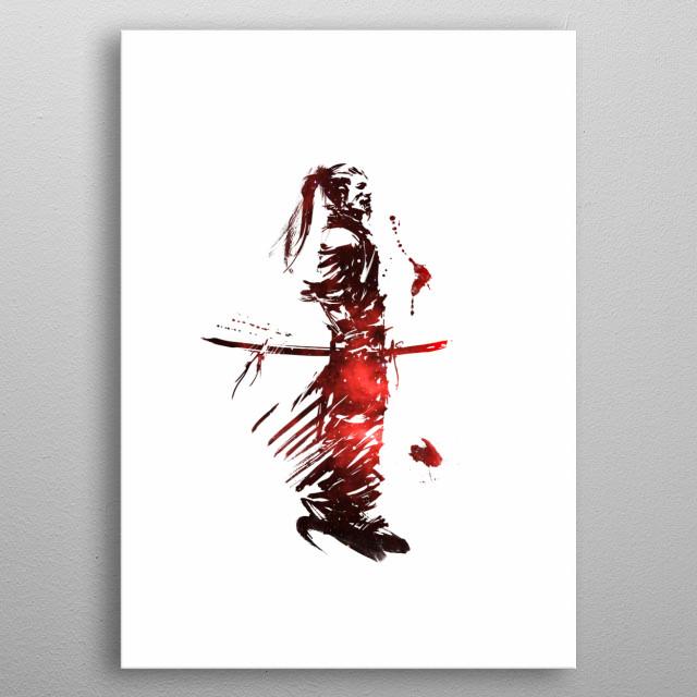 Samurai v7 metal poster