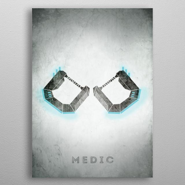 WildStar - Medic metal poster