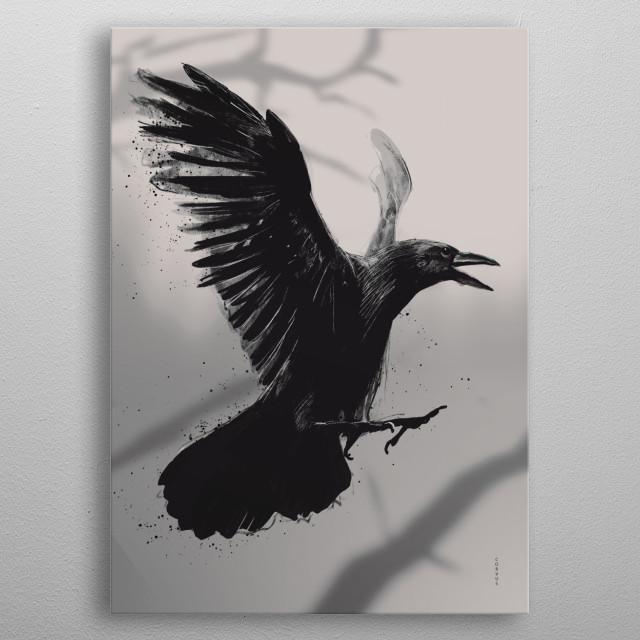 Crow metal poster
